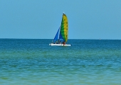 <h5>Sailing off Crescent Beach</h5><p>Sailing off Crescent Beach</p>