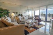 <h5>Sea Mar Living Area with Ocean View of Crescent Beach</h5><p>Sea Mar Living Area with Ocean View of Crescent Beach</p>