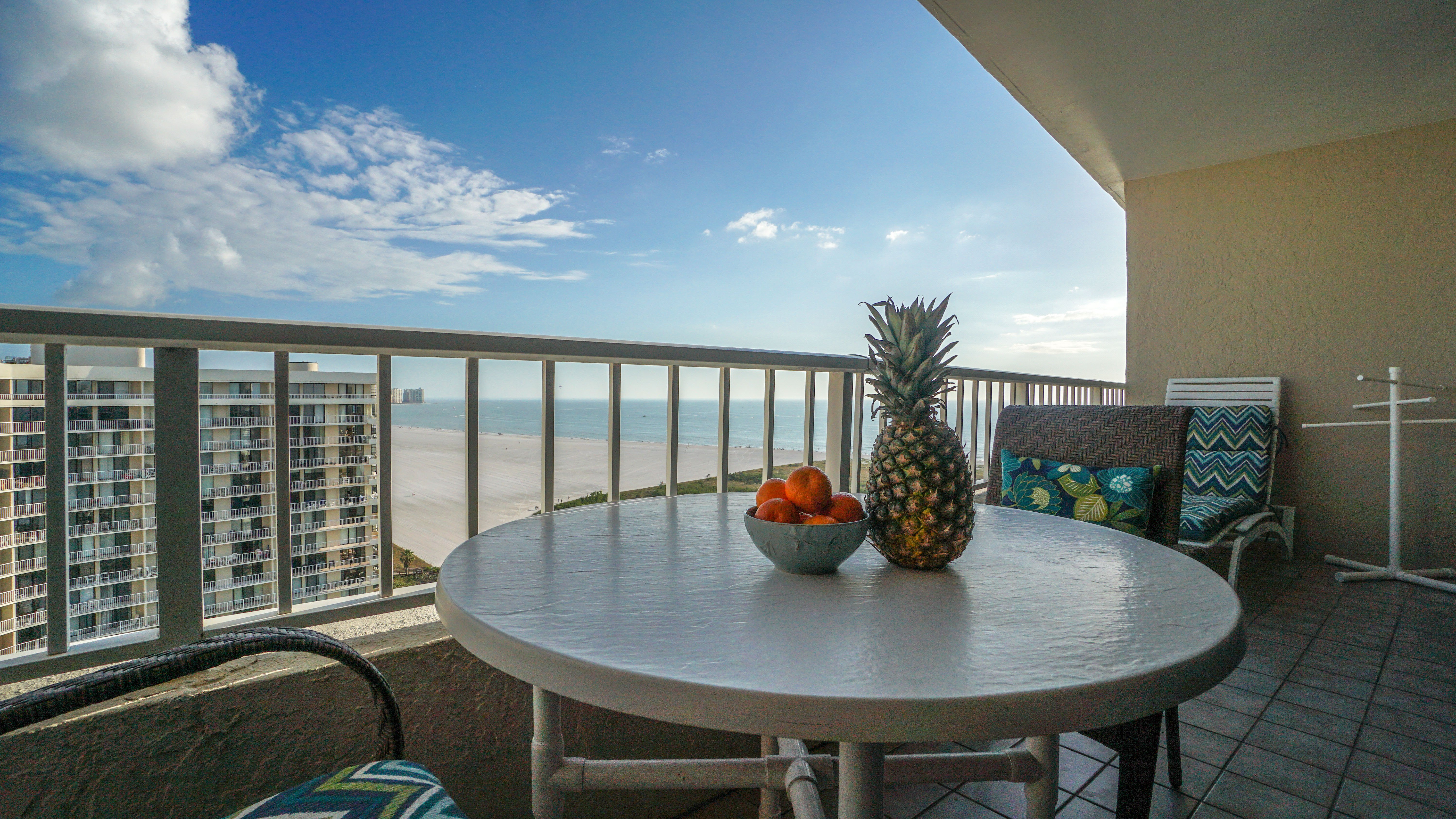 Oversized Lanai with Views of Crescent Beach and Gulf Waters