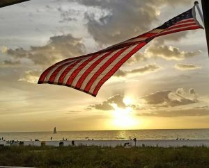 July 4th Flag from Sunset Grill