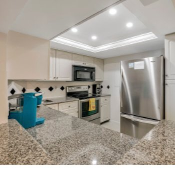 Fully Equipped Kitchen Sea Mar Condo Marco Island Penthouse 1907